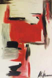 Schwarz rot weiß i und schwarz rot weiß ii 2008 acryl auf